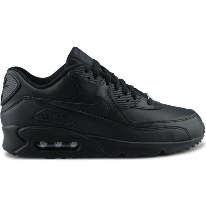 shop best sellers special for shoe 50% off NIKE Basket Homme Air Max 90 302519-001 - Cuir - Noir - Achat ...