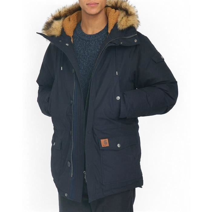 parka bleu marine dawson pour homme bleu achat vente parka cdiscount. Black Bedroom Furniture Sets. Home Design Ideas