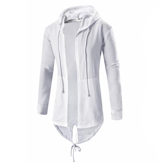 Sweatshirt a capuche homme long style oversize street wear