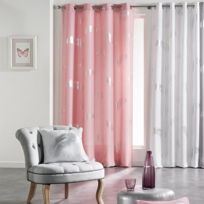 Paris prix rideau plumette 140x260cm rose achat for Fenetre zen modele paris