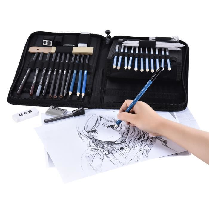 professionnel kit d 39 esquisse kit de dessin 40pcs outil outils sketching achat vente kit. Black Bedroom Furniture Sets. Home Design Ideas