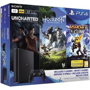 CONSOLE PS4 Nouvelle PS4 Slim 1To + Horizon Zero Dawn + Unchar