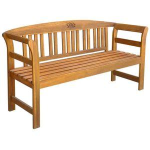 Junado Cordoba Banc de Jardin 2 Places en Bois 110 cm Id/éal pour Jardin et Balcon Acacia Massif huil/é