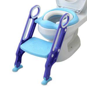 Fcostume R/éDucteur WC Enfant,Pot Bebe Toilettes Formateur Si/èGe /éTape Tabouret /éChelle Chaise De Formation R/éGlable Rehausseur Toilette Enfant