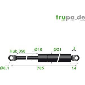 VERIN DE CAPOT Vérin à gaz en acier Ø10mm - force 500N - course 3