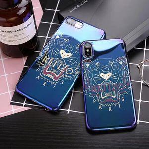 kenzo coque iphone 8 plus 8s plus bleu fonce