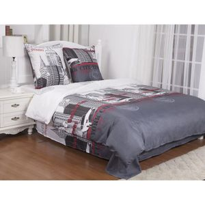 housse de couette new york achat vente housse de. Black Bedroom Furniture Sets. Home Design Ideas