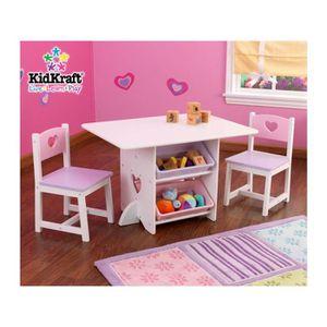 TABLE ET CHAISE Table pupitre bureau avec chaises en bois enfant m