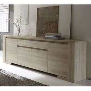 buffet bahut contemporain argeles 4 portes 1 achat vente buffet bahut buffet bahut. Black Bedroom Furniture Sets. Home Design Ideas