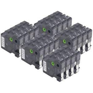 LabelWriter 400 Duo LabelPoint 200 300 pour Dymo Etiqueteuse LabelManager 120P 280 300 350 450D 500TS PnP Xemax 6x Remplacer Dymo D1 40910 S0720670 9mm x 7m Noir sur Transparent Ruban