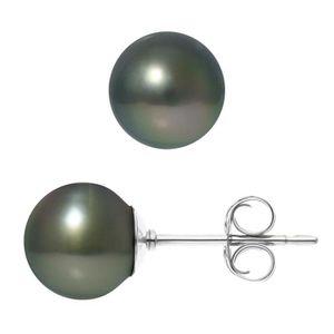 Boucle d'oreille PERLINEA Boucles d'Oreilles Perles de Tahiti et Ar