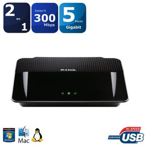 MODEM - ROUTEUR D-Link Routeur Gigabit Wireless N CPL 500