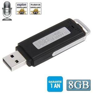 Système d'écoute Clé USB espion 8go (enregistreur Audio)
