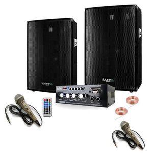 PACK SONO SONO KARAOKE 600 + AMPLI + 2 ENCEINTES 300W + 2 MI