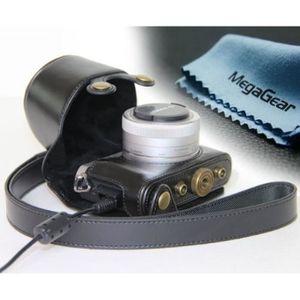 COQUE - HOUSSE - ÉTUI Etui de protection en cuir noir pour appareil phot