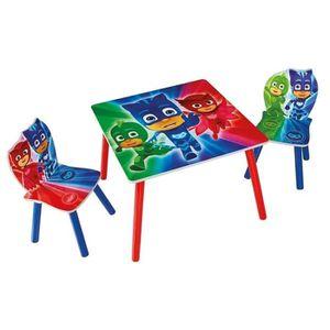 TABLE ET CHAISE PYJAMASQUES Ensemble Table Et 2 Chaises Pour Enfan