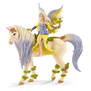 FIGURINE - PERSONNAGE SCHLEICH - Figurine 70565 Fée Sera avec la licorne