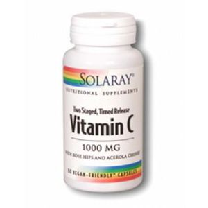 DÉFENSE IMMUNITAIRE  Solaray Vitamine C 1000mg Two Stage Time Release 6