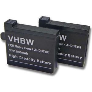 BATTERIE APPAREIL PHOTO 2 batteries de remplacement pour GoPro Hero 4 Blac