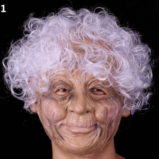 Parti Adulte Effrayant Vieille Femme Grand Mere Deguisement Complet Visage Latex Halloween Masques Achat Vente Masque Decor Visage Cdiscount