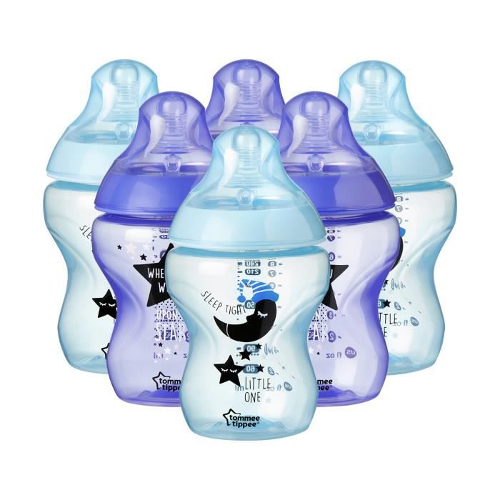 TOMMEE TIPPEE Lot biberon 6x260mL Garçon - Catch me quick