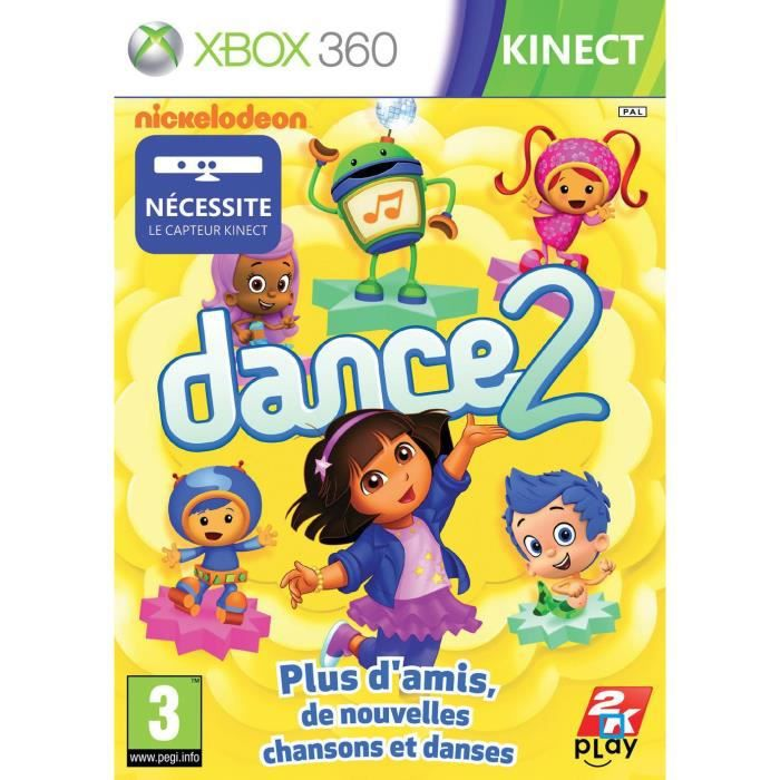 JEUX XBOX 360 NICKELODEON DANCE 2  KINECT / Jeu console XBOX 360