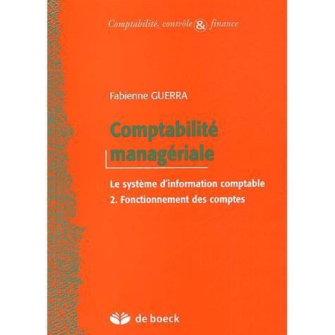 LIVRE COMPTABILITÉ Comptabilité managériale