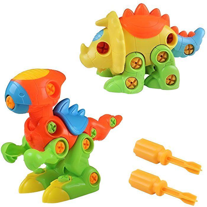 Dinosaures Enfant Jouet de Construction Puzzle Jeu à Assemblage et Démontage pour Garcon Fille 3 4 5 6 Ans 88718
