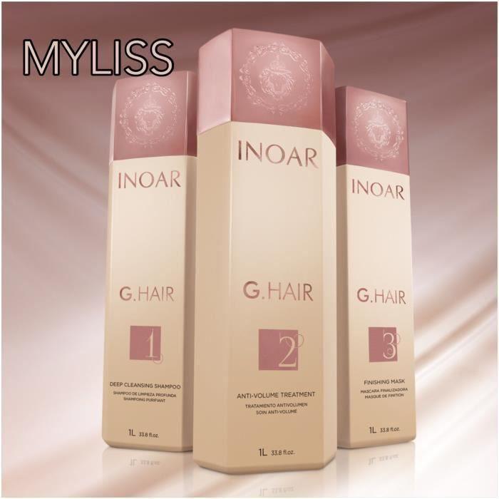 Kit Lissage Brésilien - INOAR Ghair - 3 x 1 litre NOUVEAU PACKAGING