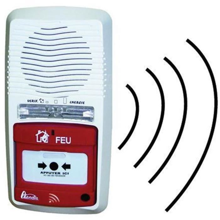 Alarme type 4 autonome radio Axendis portée 100 mètres