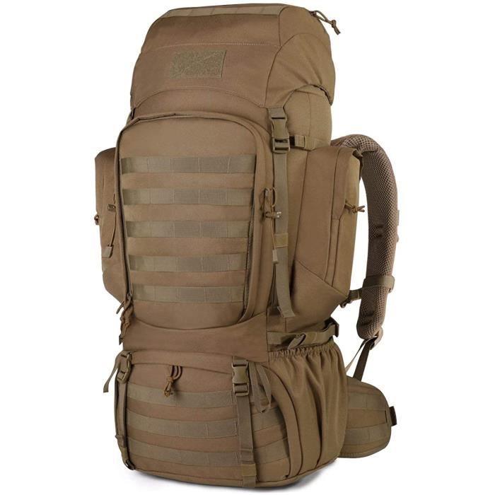 Mardingtop 50-60L Sac à Dos Militaire Sac à Dos Noir Grand Armée Sac à Dos Adultes Molle Sac pour Randonnée Trekking Chasse Ca[481]