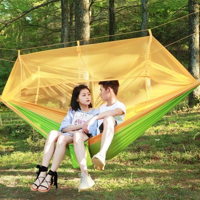Fournitures de camping Ultraléger Voyage Camping hamac intégré moustiquaire et pochette de rangement CWY90531002A_SAN1611 Bo98587