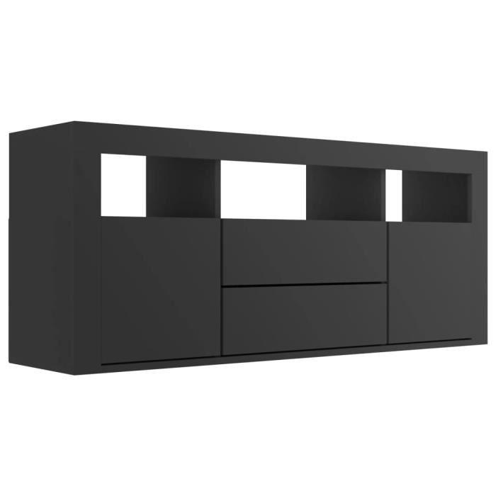 [777801] Super qualité - Meuble TV Design - Meuble de rangement Meuble de Télévision Noir 120x30x50 cm Aggloméré