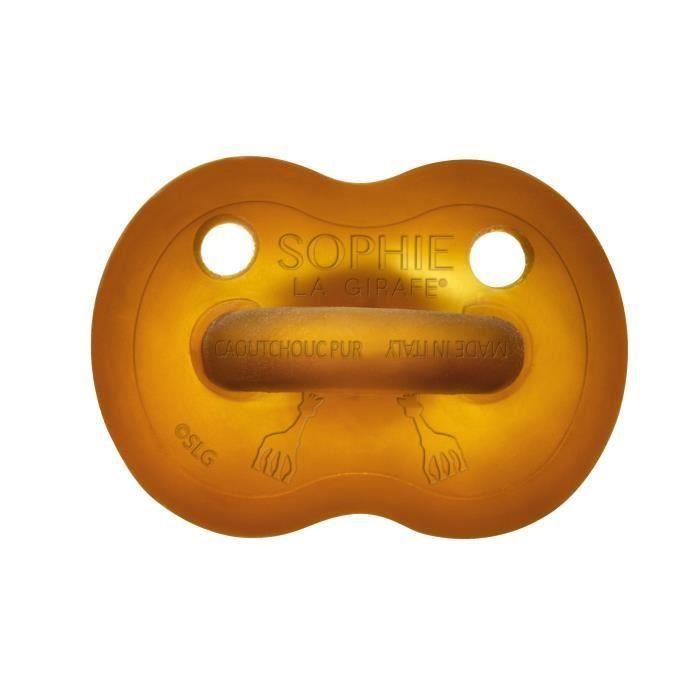 VULLI Sucette caoutchouc So'Pure SOPHIE LA GIRAFE - 6-18 mois (Lot de 2)