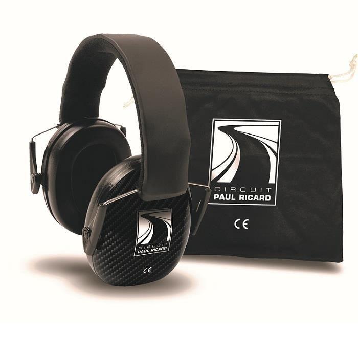 Casque anti bruit CIRCUIT PAUL RICARD 25 dB carbone