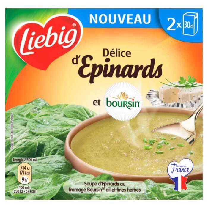 Soupe épinards boursin x2 30cl Liebig