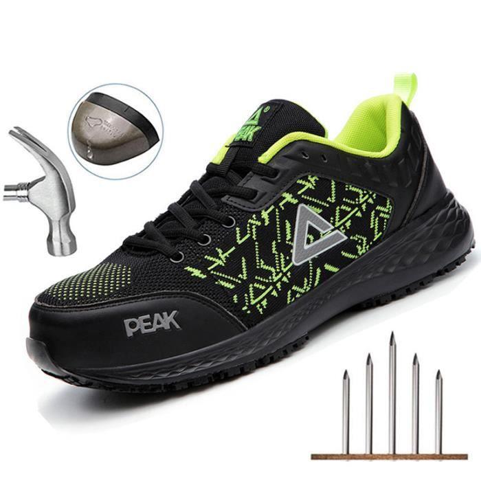 Pointure 35-45 Chaussure de Securité Homme Femme Legere Confortable Chaussures de Travail Basket de Securite Homme Embout de Protect