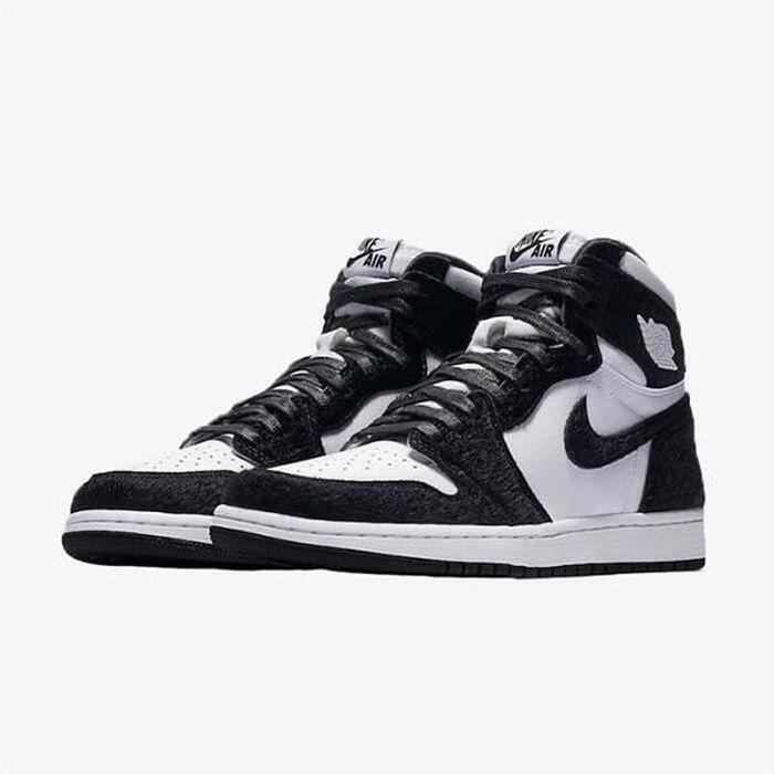 Nike Air Jordans 1 Retro High OG Panda Chaussures de Basket Air Jordans One AJ1 Pas Cher pour Homme Femme Noir et Blanc