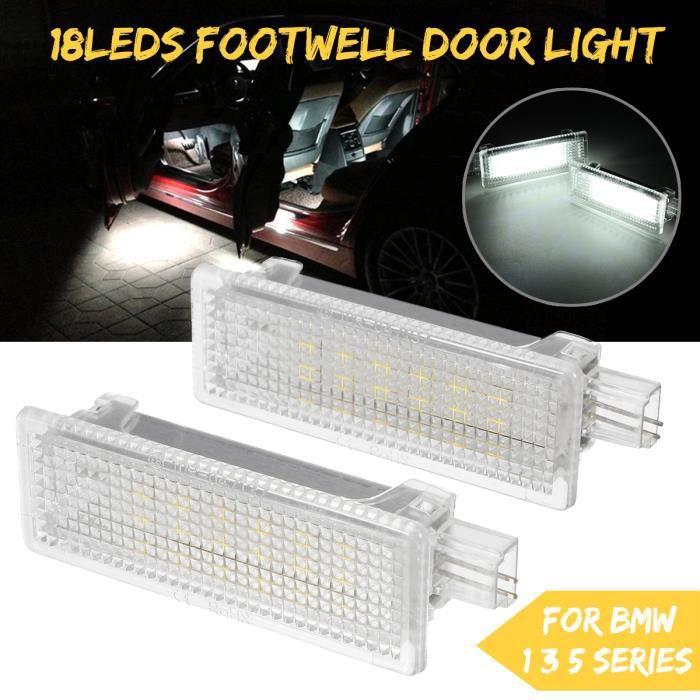NEUFU 2x 18-LED Éclairage Intérieur de Porte Pour BMW Mini Copper E81 E87 F20 1 3 5 Series