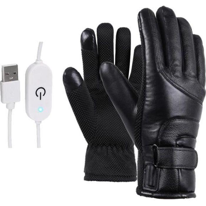 1 paire de gants chauffants électriques moto mode couverture de protection des mains pour l'équitation TROTTINETTE