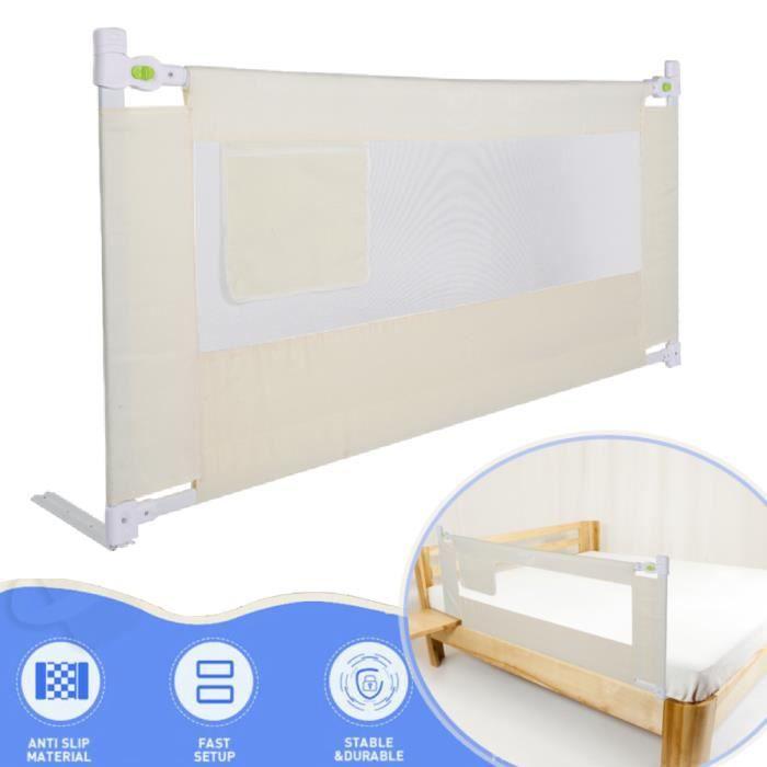 Barrière de lit pour enfants 180 x 68cm Barriere de lit bebe rail de lit de sécurité de bébé ABI10