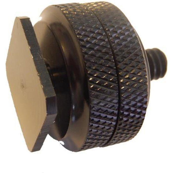 Vis de trépied 1-4- (26mm) avec filetage intérieur et extérieur et fixation pour griffe - Compatible avec tous les appareils phot…