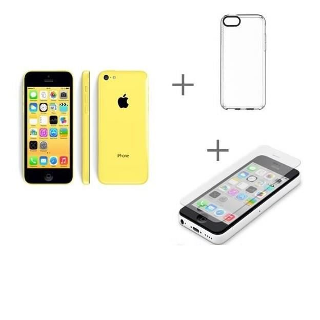 iphone 5c 16gb jaune house protection cran verre tremp achat smartphone pas cher avis. Black Bedroom Furniture Sets. Home Design Ideas