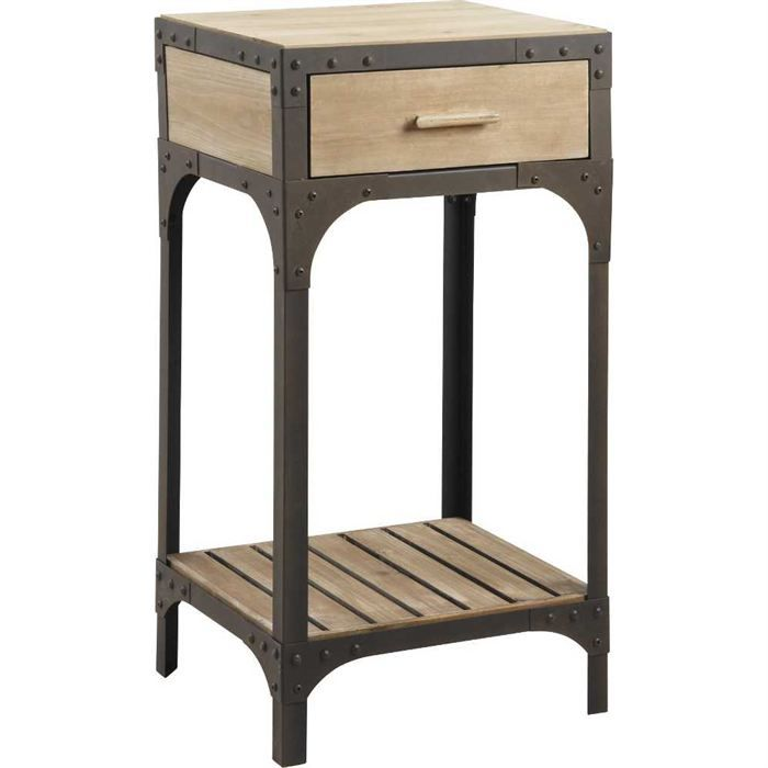 petit meuble en bois et metal achat vente console. Black Bedroom Furniture Sets. Home Design Ideas
