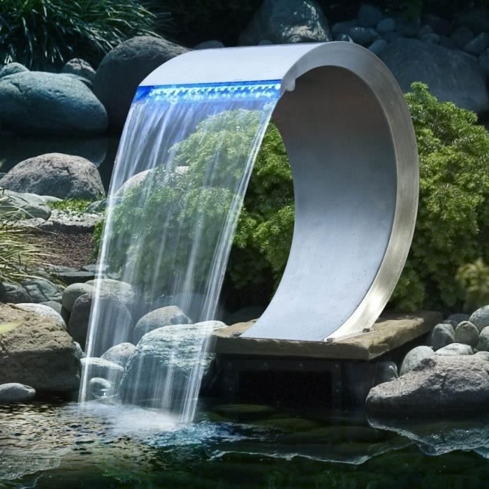 Cascade piscine mamba led achat vente fontaine de for Cascade piscine