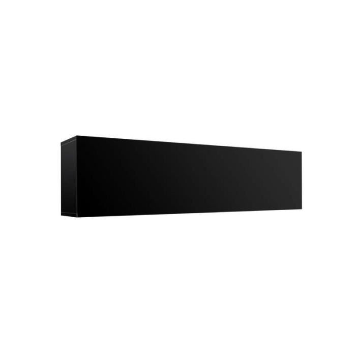 Meuble tv mural horizontal up l noir achat vente for Meuble horizontal mural