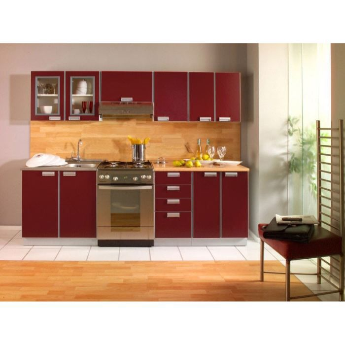 opale bordeaux 2m40 7 meubles achat vente cuisine compl te opale bordeaux 2m40 7 meubles. Black Bedroom Furniture Sets. Home Design Ideas