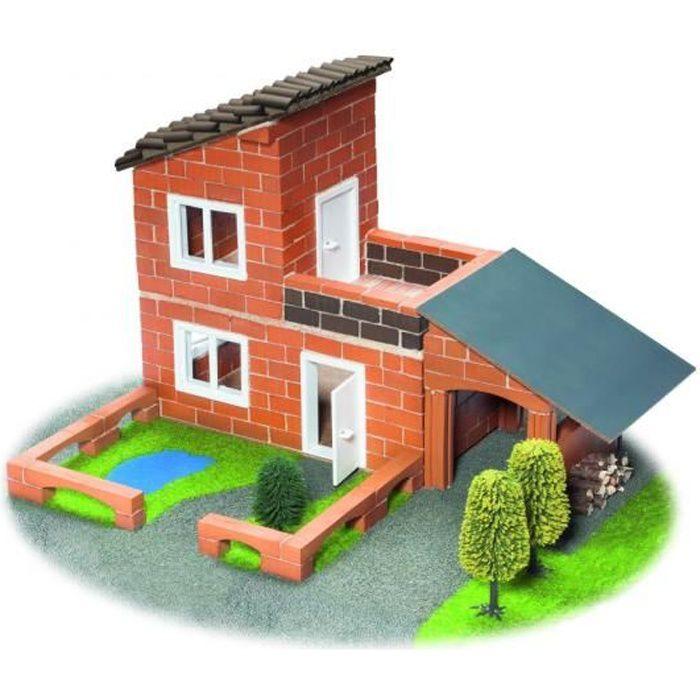 ASSEMBLAGE CONSTRUCTION Jeu de construction enfant en brique ciment Villa