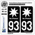 2 stickers style plaque immatriculation AUTO black édition noir et blanc 45