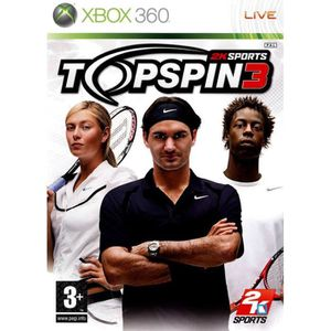 JEUX XBOX 360 TOP SPIN 3 / JEU CONSOLE XBOX 360